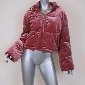 ALO Yoga Velvet Puffer Jacket Rosewood Size Small